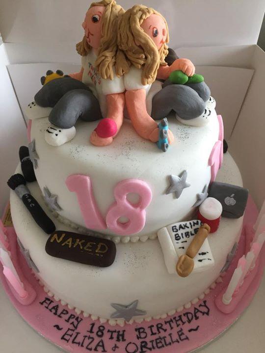 18th Birthday Cake For Twins Caroline Gordon Cakes